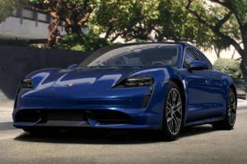 how look porsche taycan blue